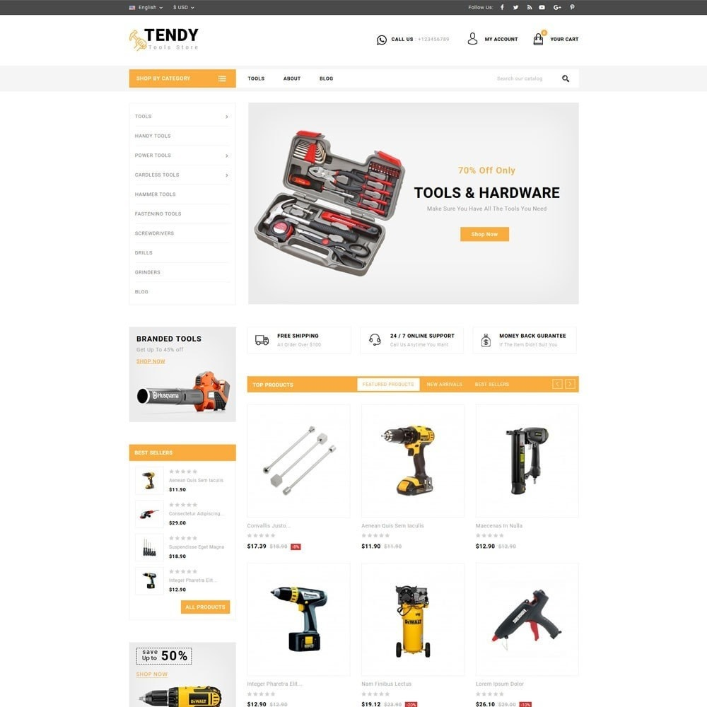 theme - Automotive & Cars - Tendy Tools Store - 2