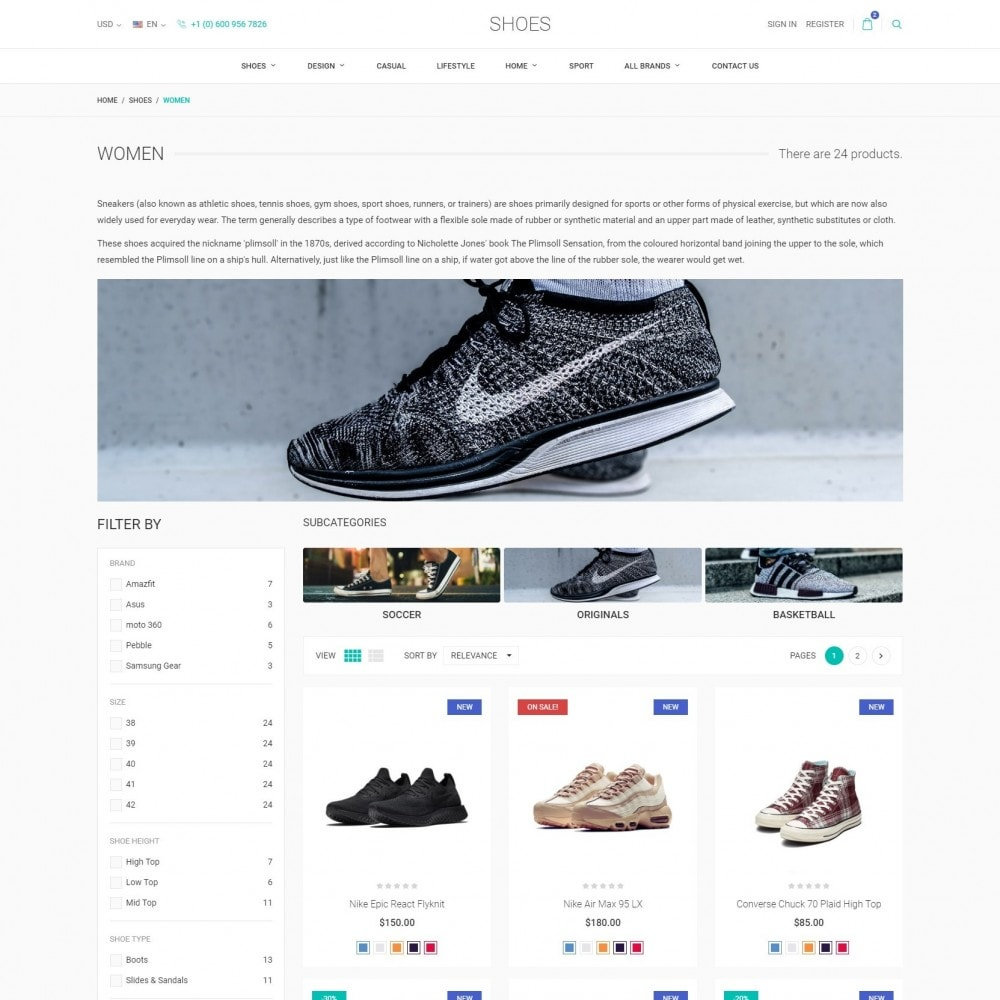 theme - Fashion & Shoes - World Footwear - Shoes Store - 3
