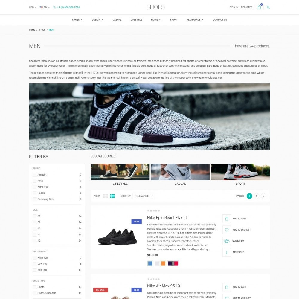 theme - Fashion & Shoes - World Footwear - Shoes Store - 4