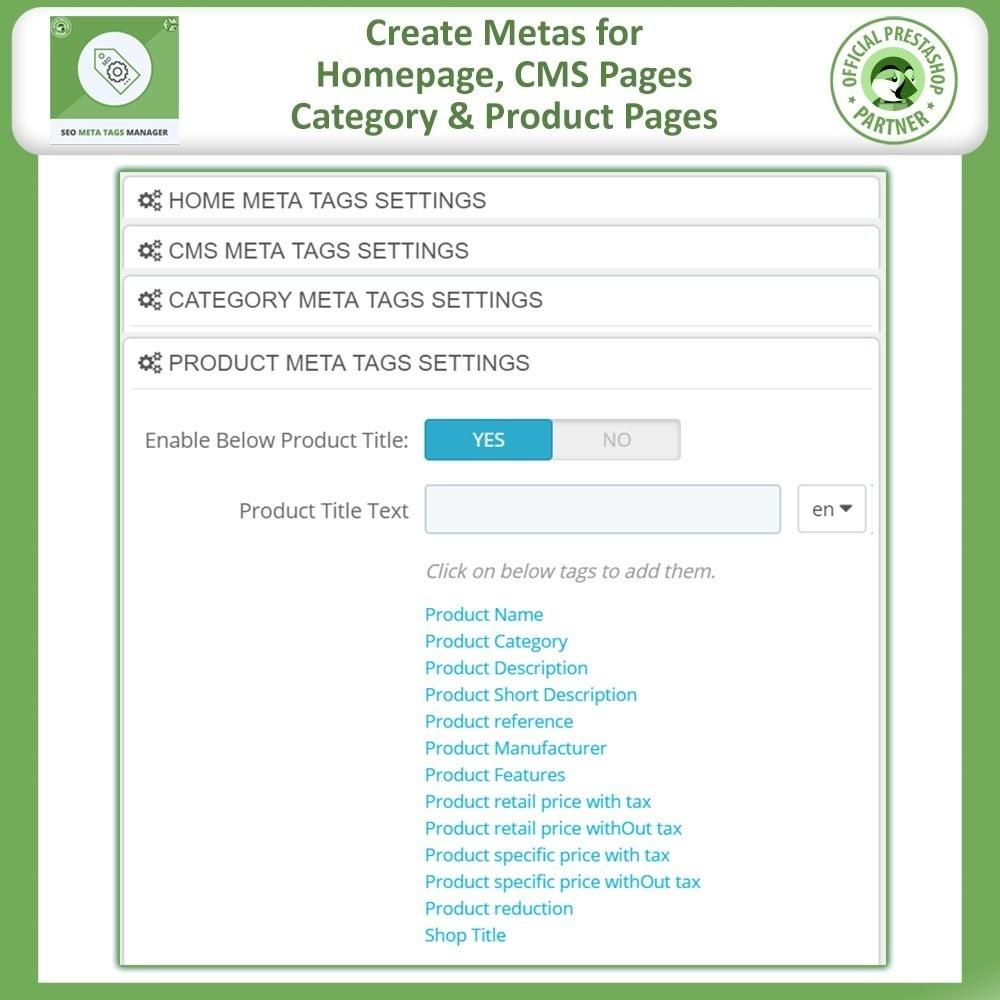 module - SEO (Referenciamento natural) - Meta Tag Manager -AutoGenerate Meta Title, Description - 3