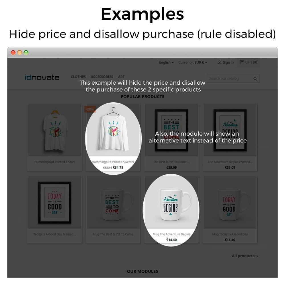 module - Управление ценами - Hide or show price and disallow purchase - 14