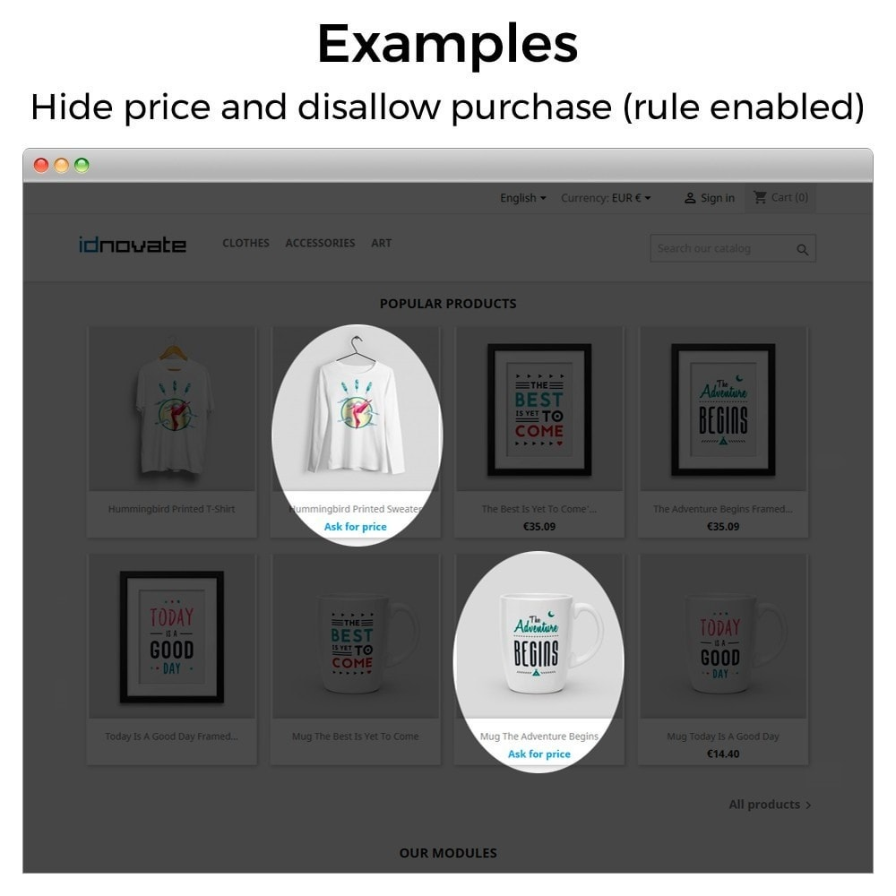 module - Управление ценами - Hide or show price and disallow purchase - 15