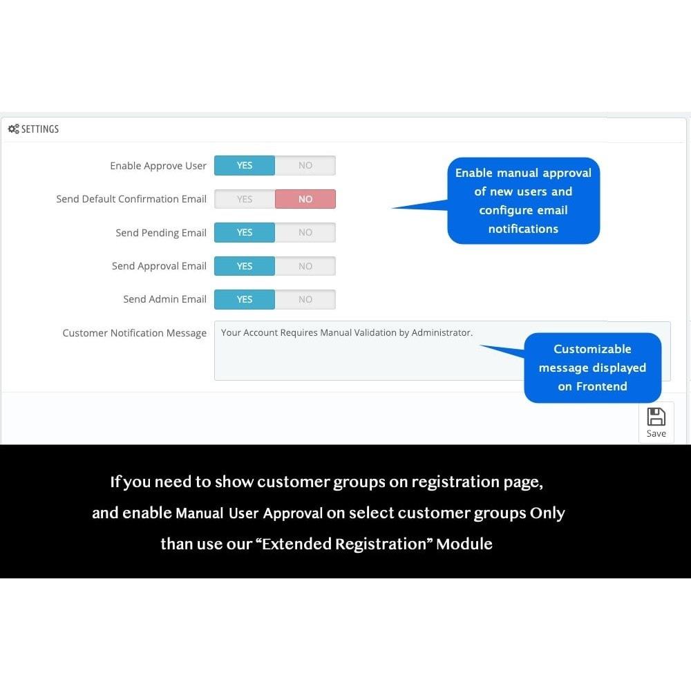 module - Przyciski do logowania  & Connect - Approve New User Registrations - 2
