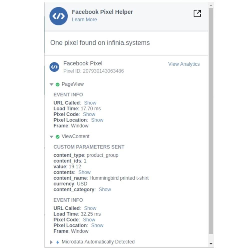 module - Produkte in Facebook & sozialen Netzwerken - Social Network Pixel (with Conversions API & GDPR) - 6