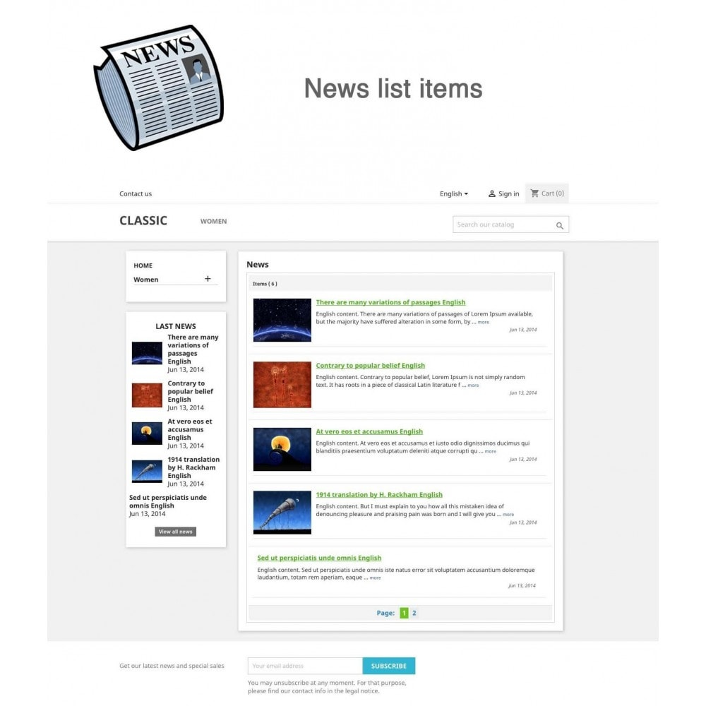 module - Blog, Forum & Actualités - Nouvelles simple + - 1