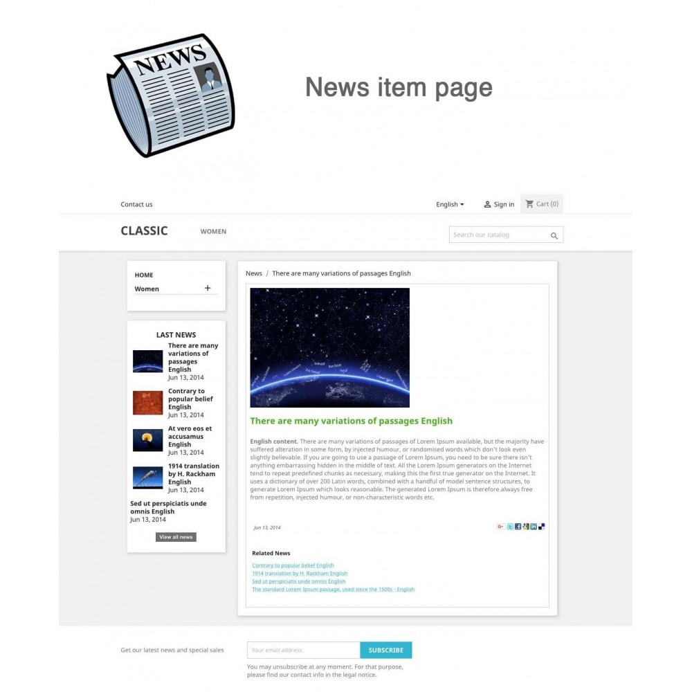 module - Blog, Forum & Actualités - Nouvelles simple + - 2