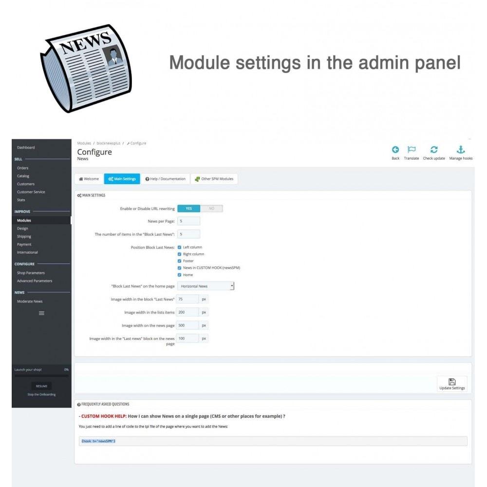 module - Blog, Forum & Actualités - Nouvelles simple + - 8