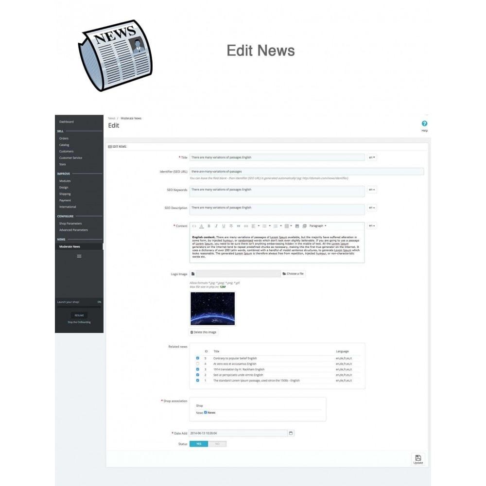 module - Blog, Forum & Actualités - Nouvelles simple + - 10