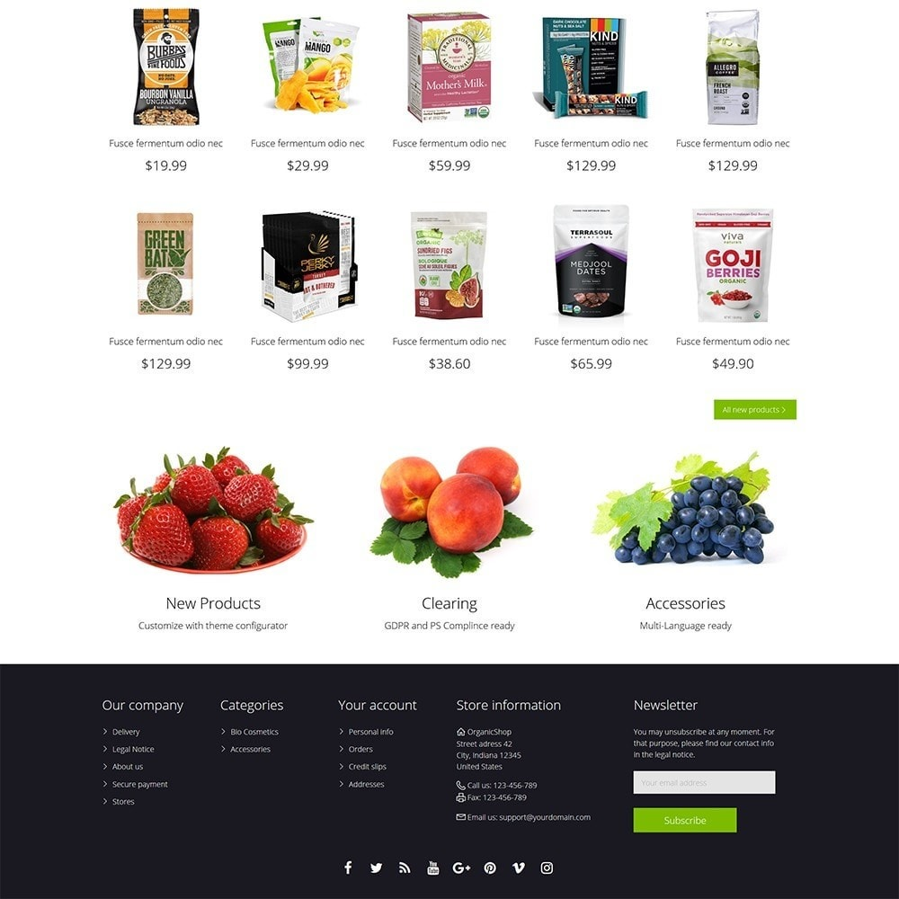 theme - Cibo & Ristorazione - Organic Shop - 5