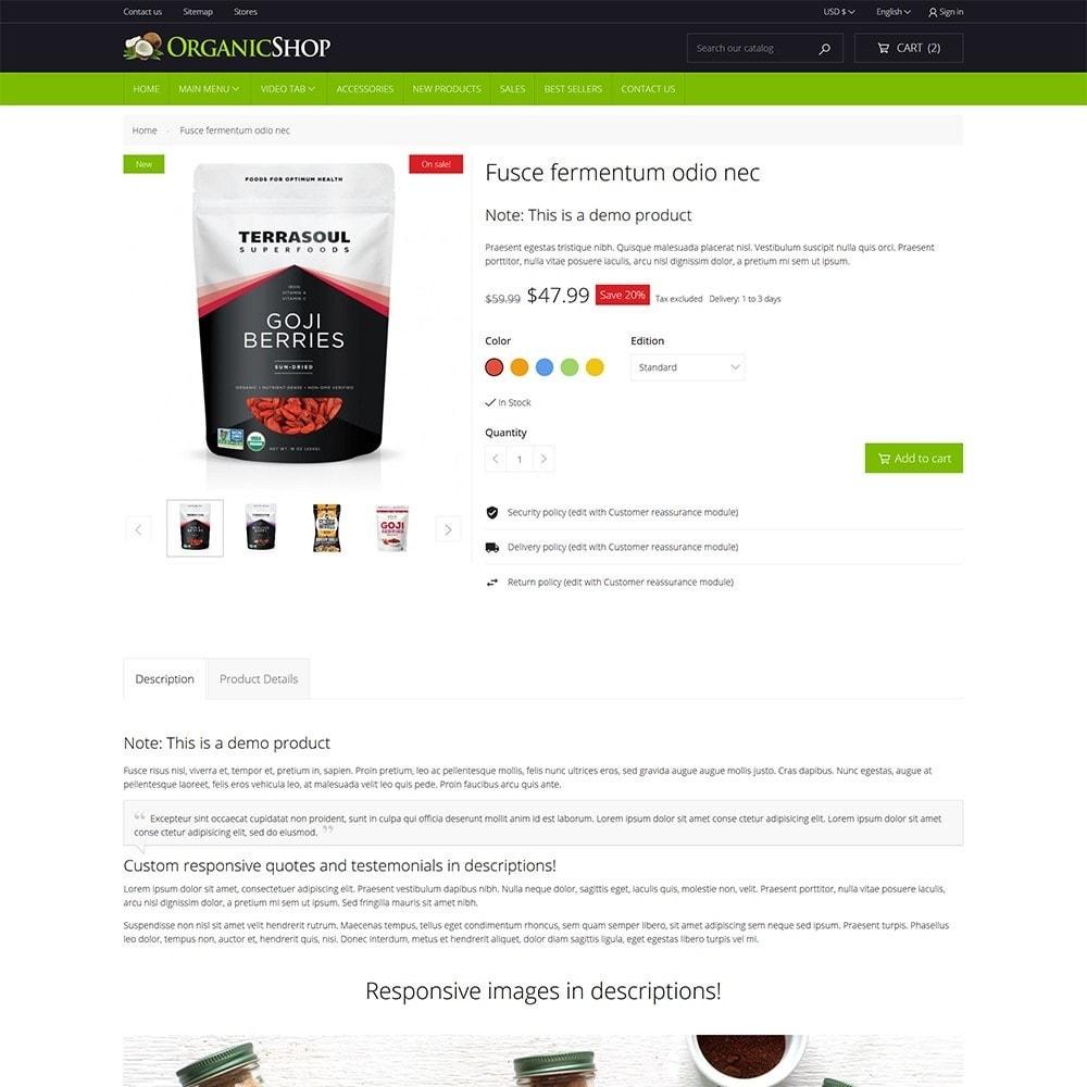 theme - Cibo & Ristorazione - Organic Shop - 7