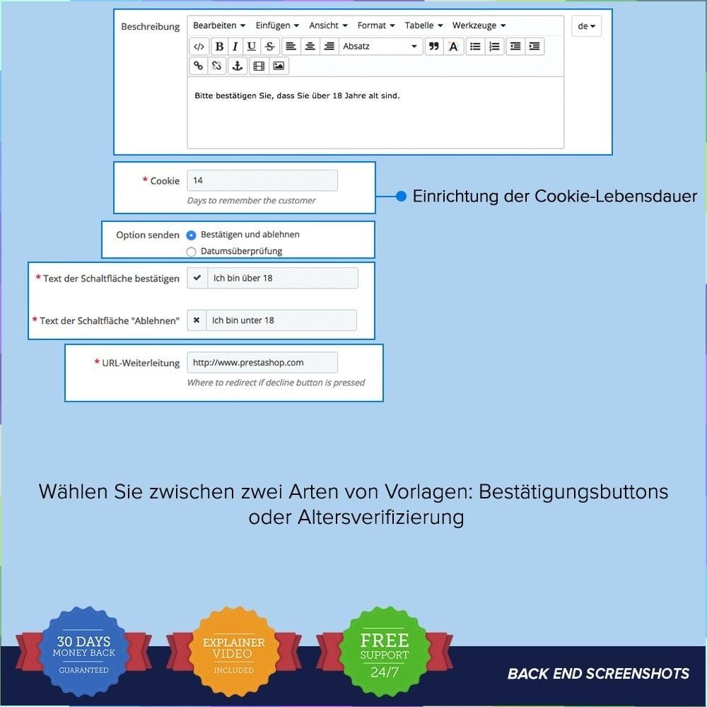 module - Rechtssicherheit - Jugendschutzgesetz – Age Control PRO - 5