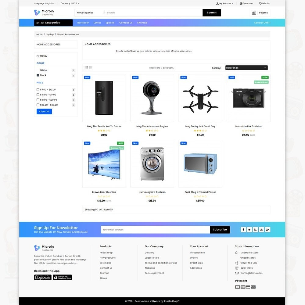 theme - Electrónica e High Tech - Microin - Best Electronics Store - 3