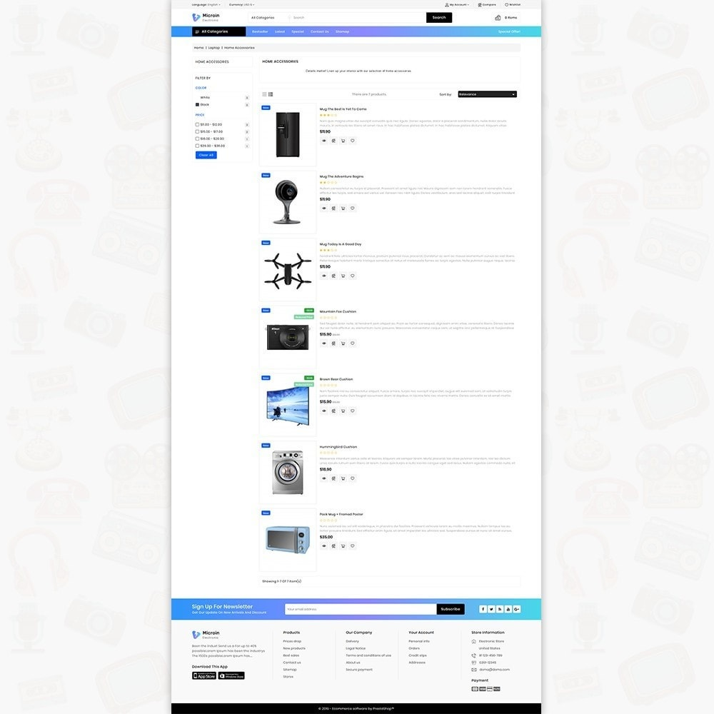 theme - Electrónica e High Tech - Microin - Best Electronics Store - 4