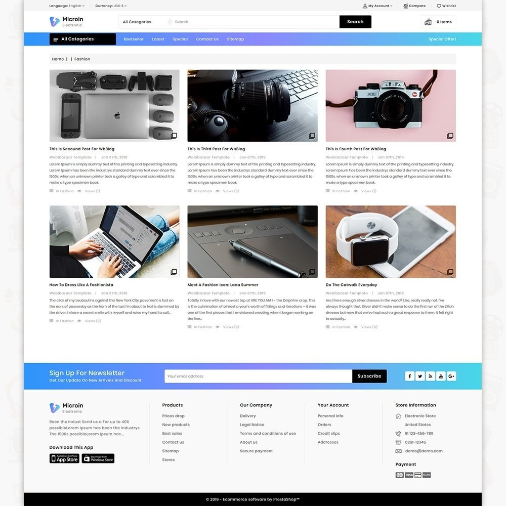 theme - Electrónica e High Tech - Microin - Best Electronics Store - 6