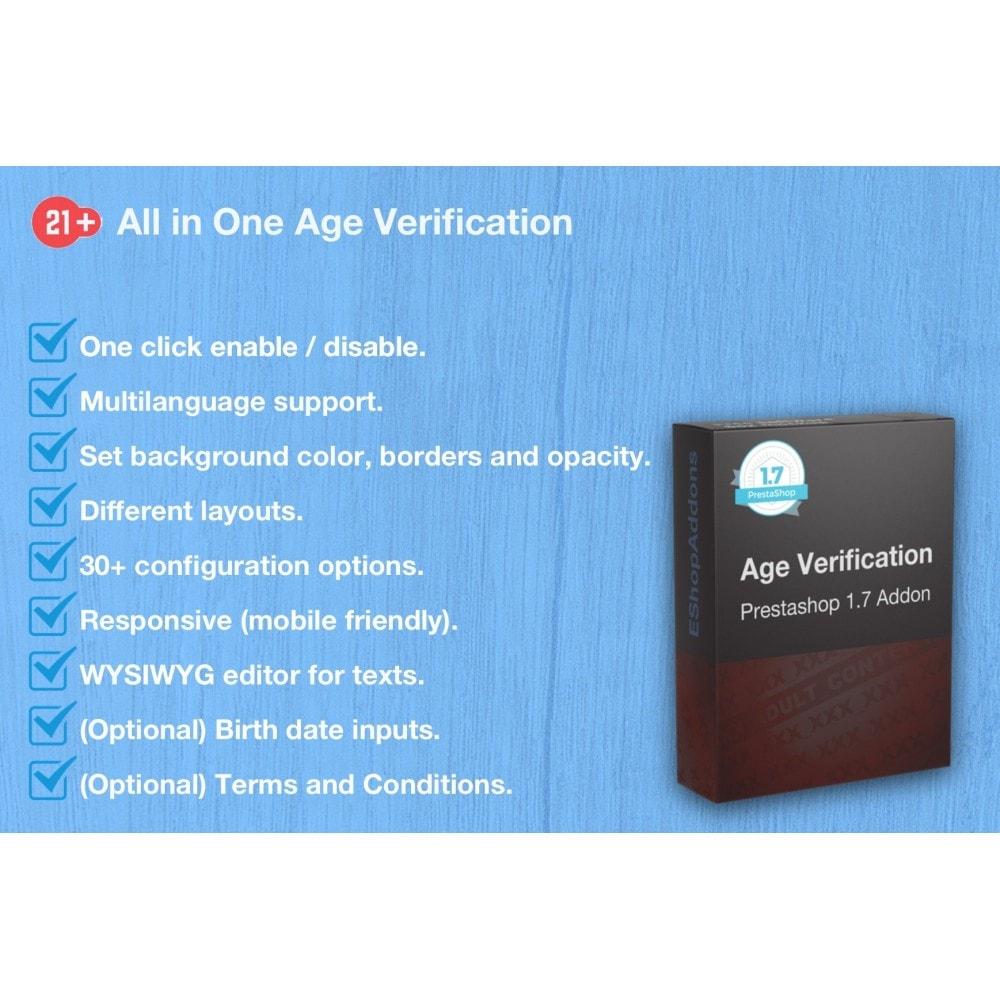 module - Veiligheid & Toegang - All in One Age Verification Popup - 1