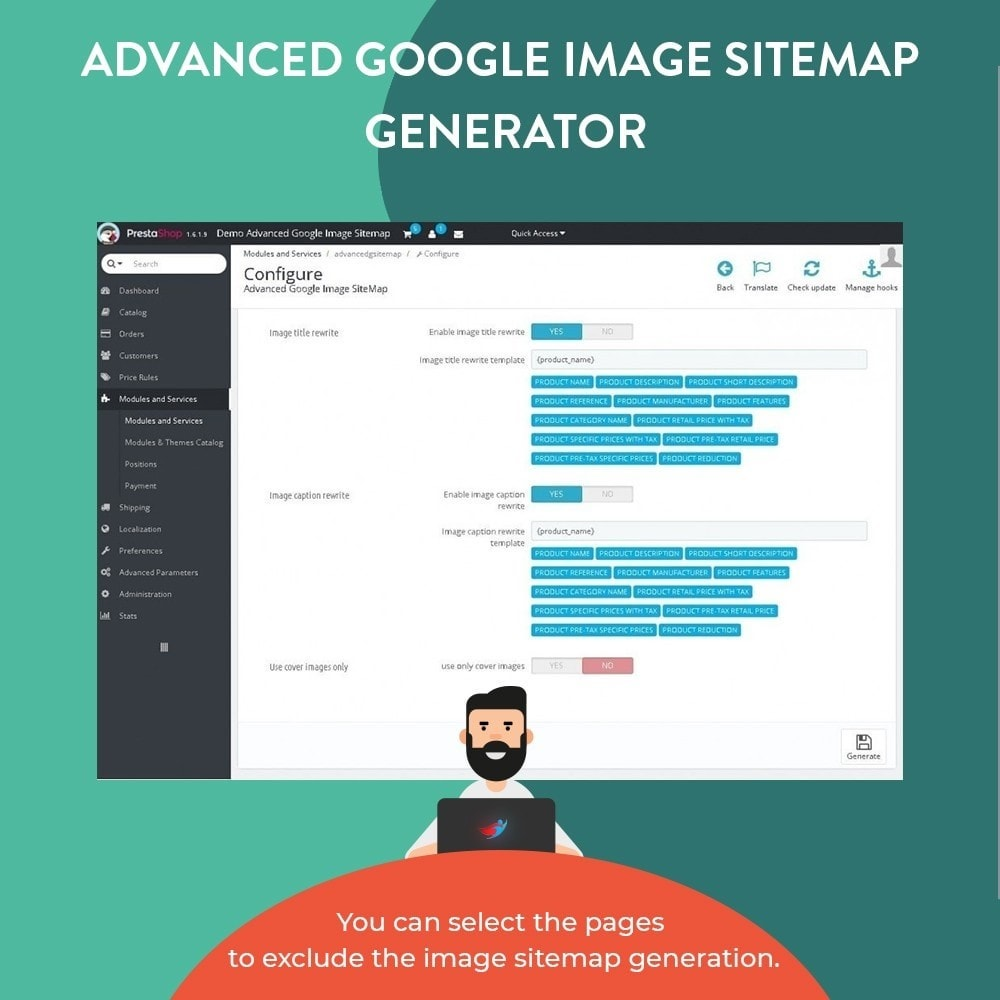 module - Естественная поисковая оптимизация - Advanced Google Image Sitemap Generator - 4
