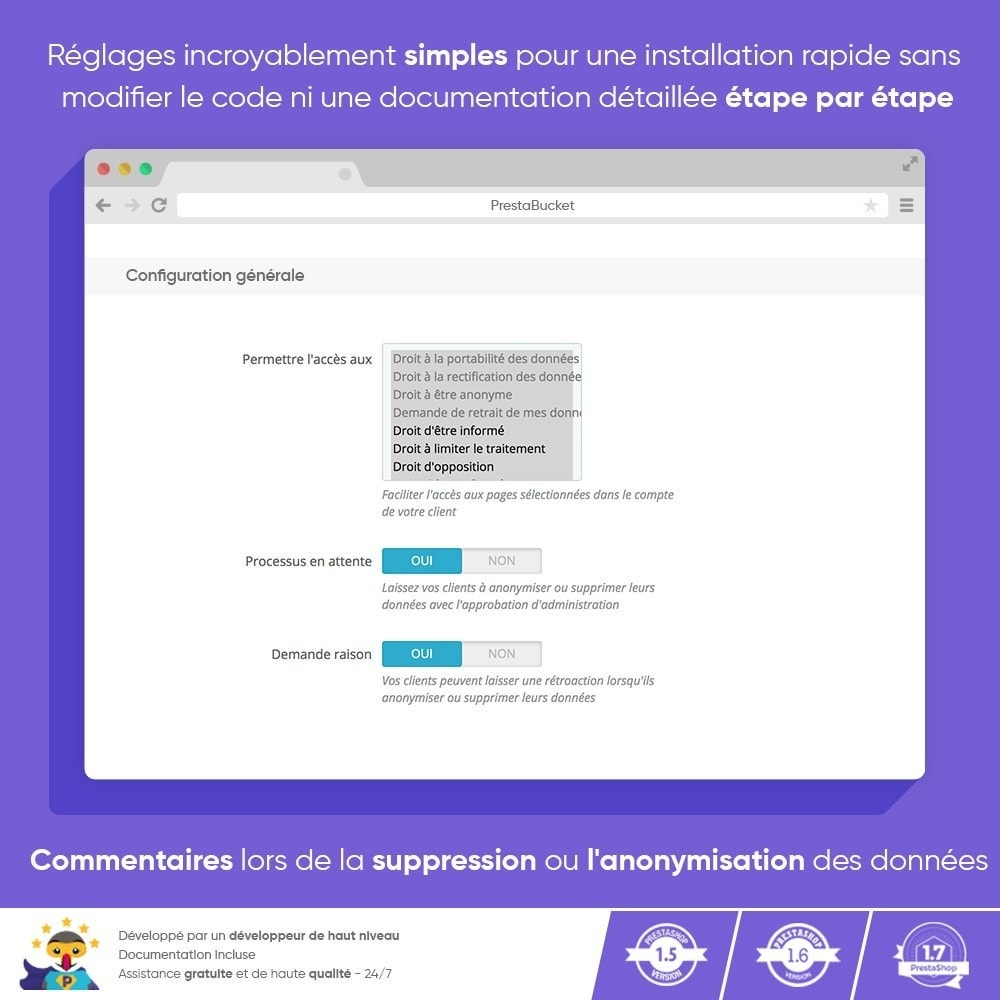 module - Législation - RGPD Règlement Général sur la Protection des Données - 3