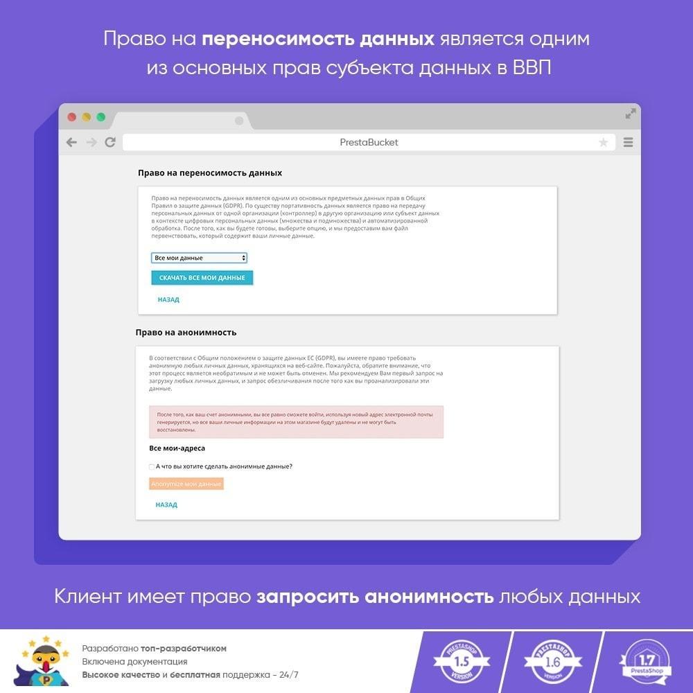 module - Администрация - RGPD - Общий регламент по защите персональных данных - 13