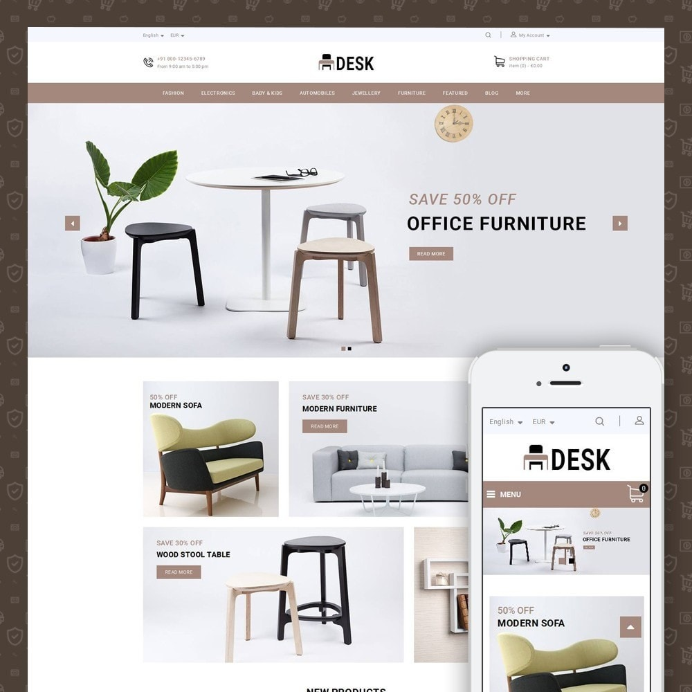 theme - Home & Garden - Desk - Furniture Store - 1