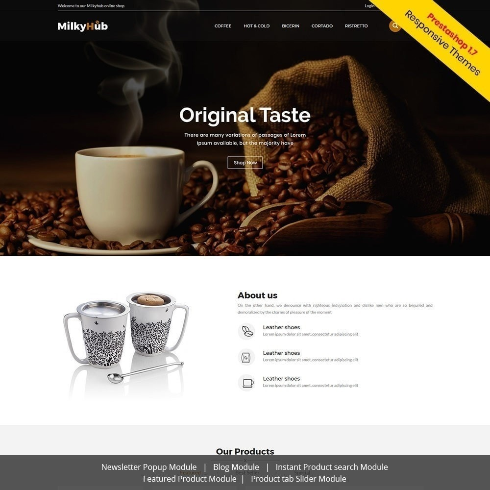 theme - Alimentation & Restauration - Milkyhub Drink - Café - 2