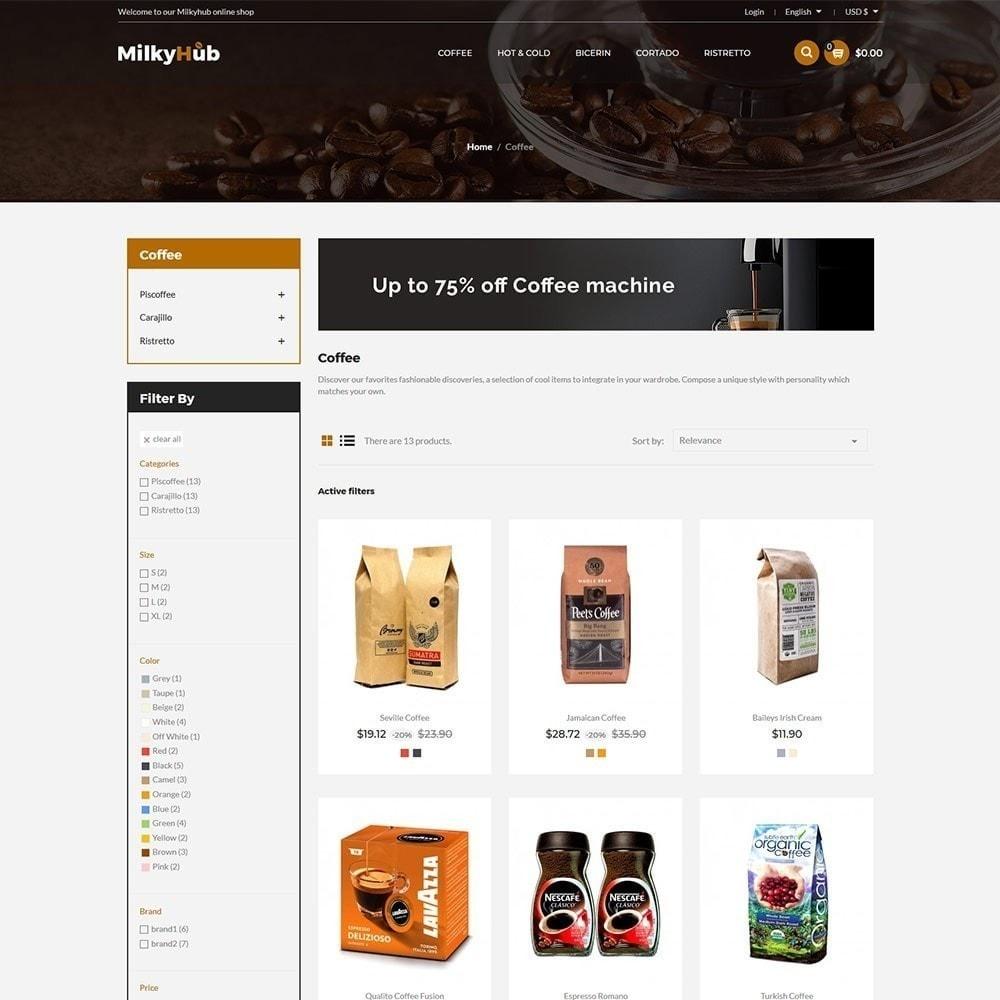 theme - Gastronomía y Restauración - Milkyhub Drink - Tienda De Café - 6