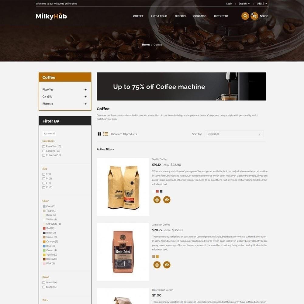 theme - Żywność & Restauracje - Milkyhub Drink - Sklep z kawą - 6