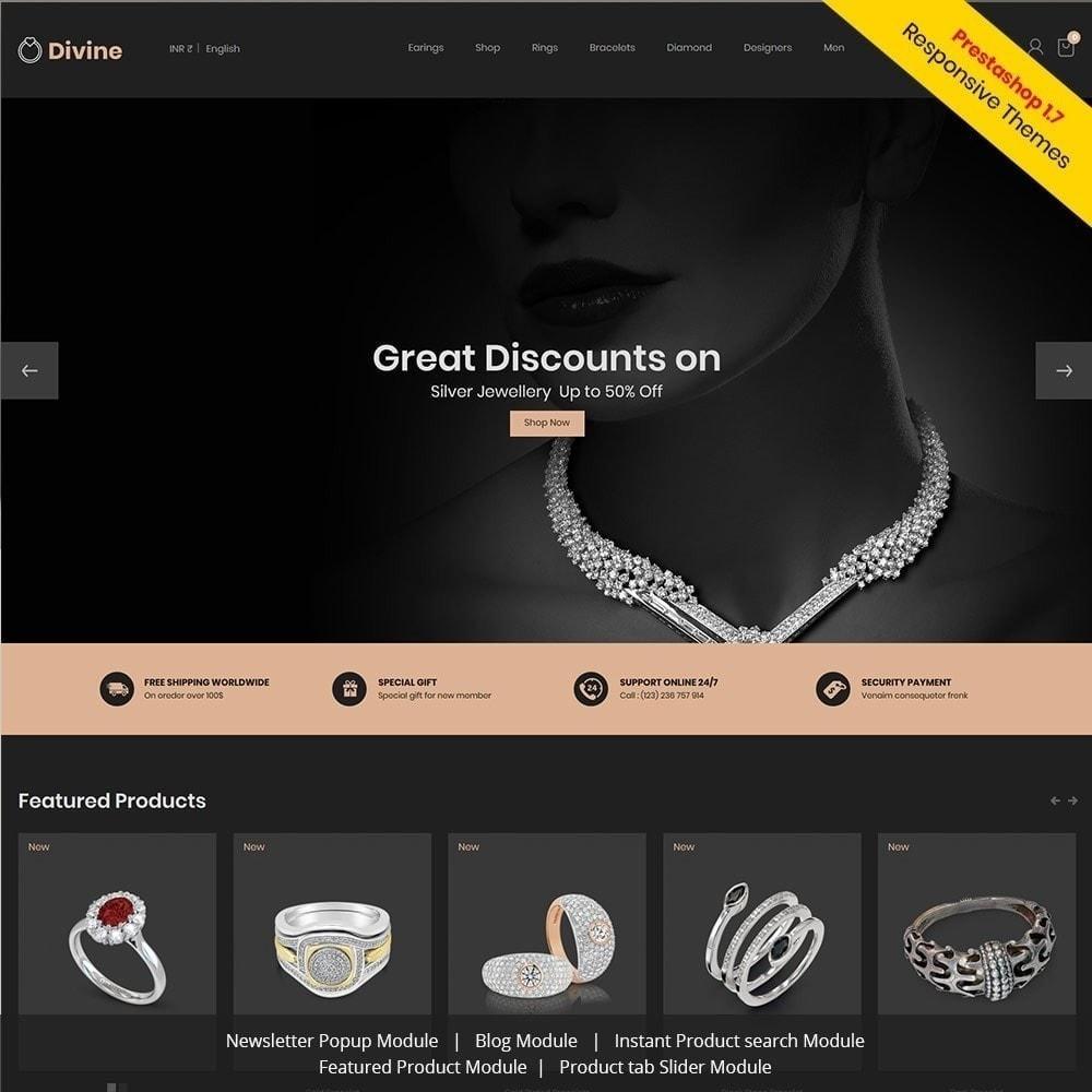 theme - Biżuteria & Akcesoria - Biżuteria Diamond Gold Silver - Luxury Store - 2