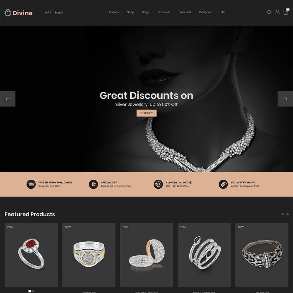 theme - Biżuteria & Akcesoria - Biżuteria Diamond Gold Silver - Luxury Store - 4