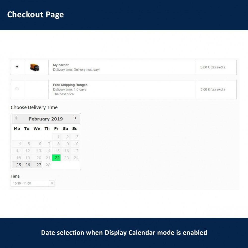 module - Delivery Date - Delivery Time and Date - 5
