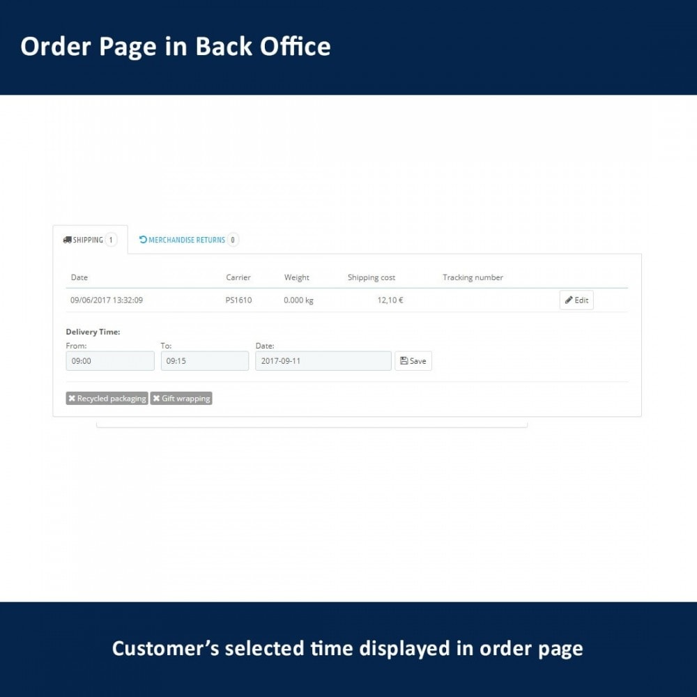 module - Delivery Date - Delivery Time and Date - 14