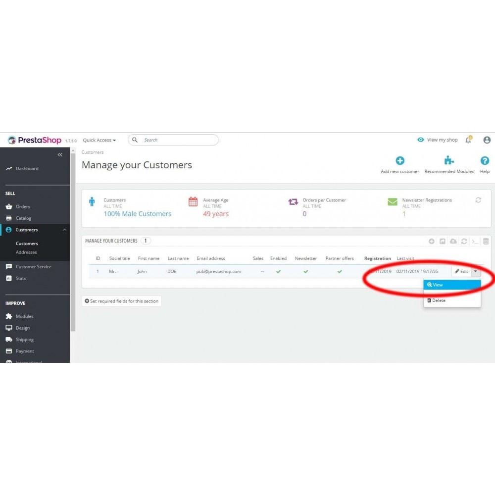 module - Kundenservice - Impersonate Customer | Login As Customer - 3