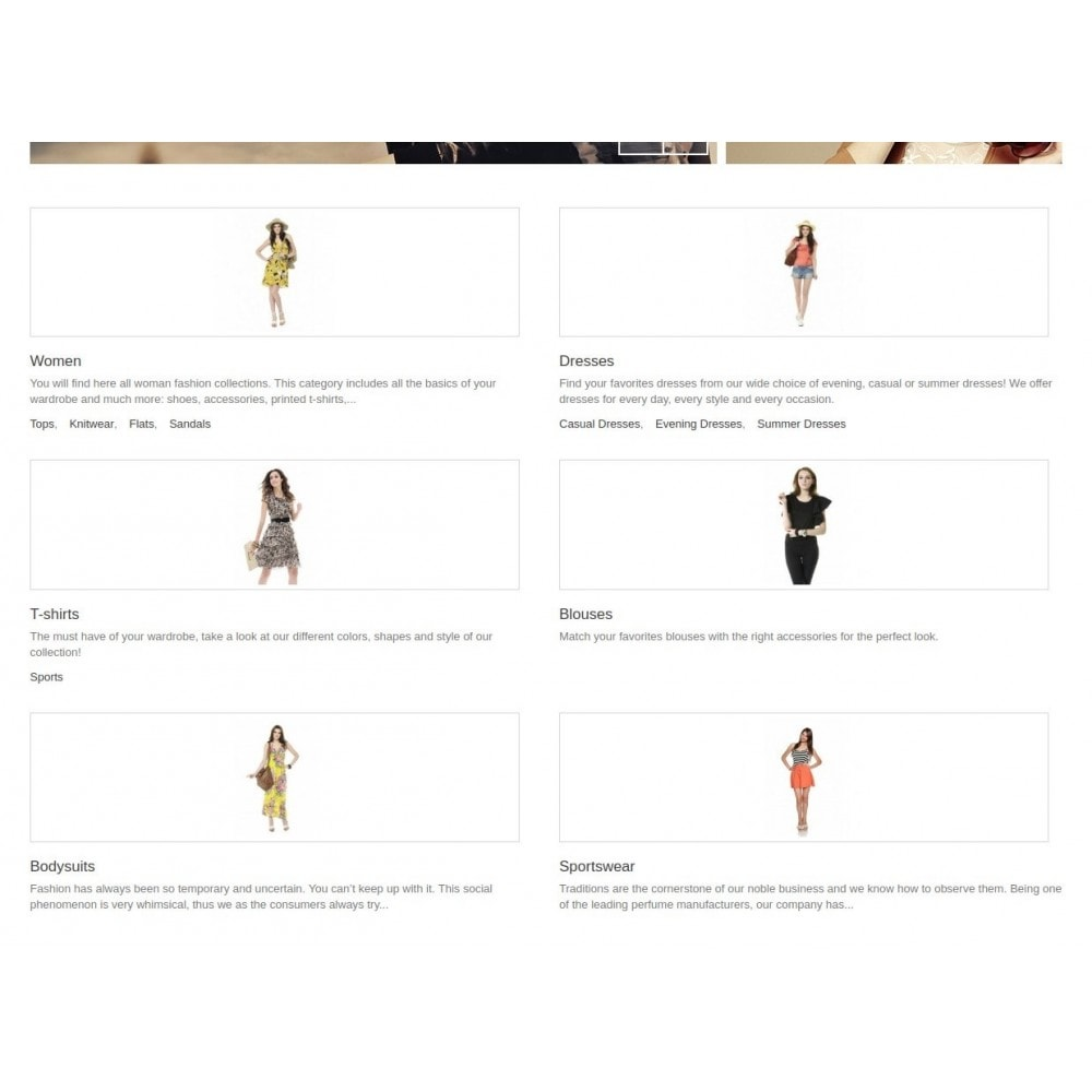 module - Blocchi, Schede & Banner - Homepage Categories - Configurable thumbs, layout, ... - 2