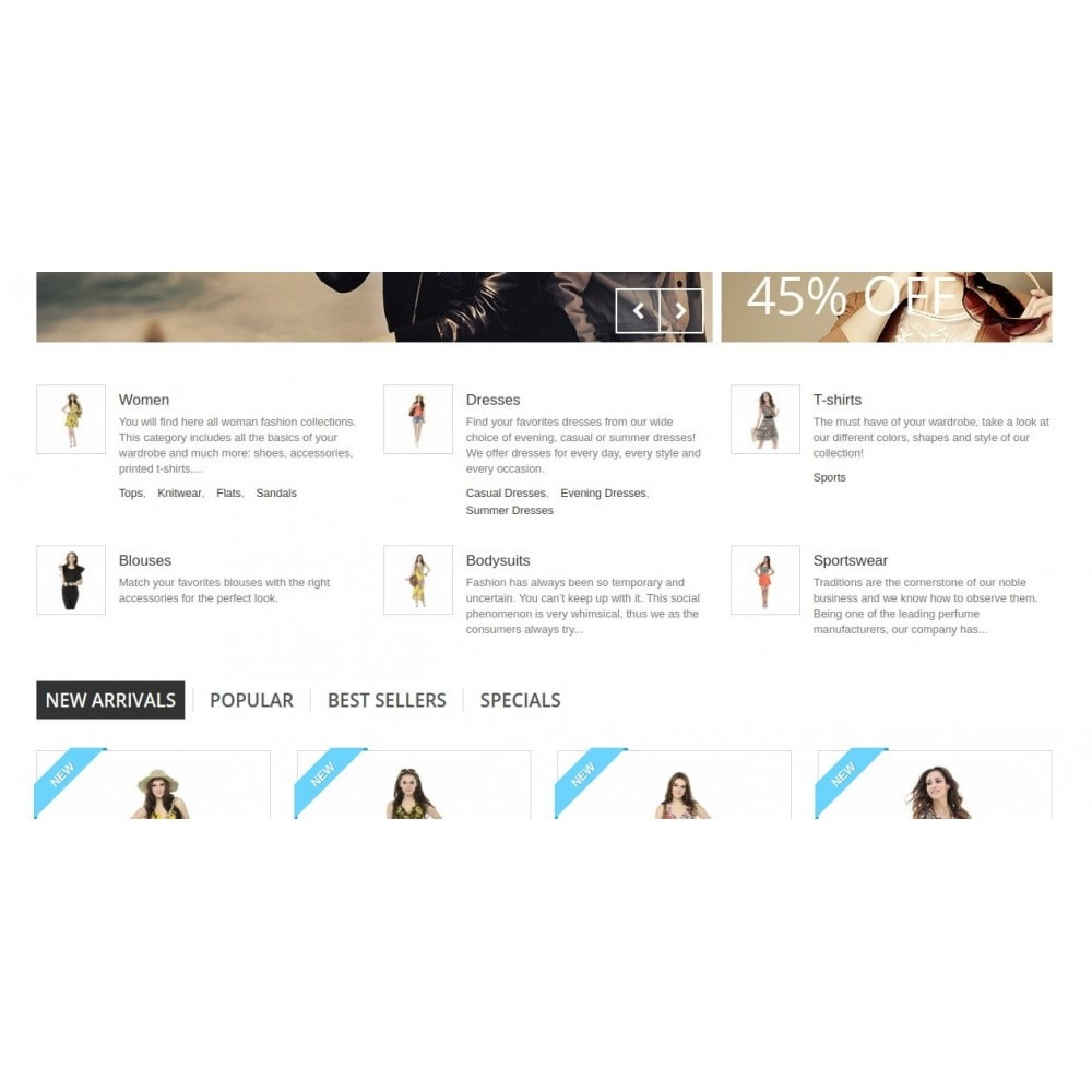module - Blocchi, Schede & Banner - Homepage Categories - Configurable thumbs, layout, ... - 3