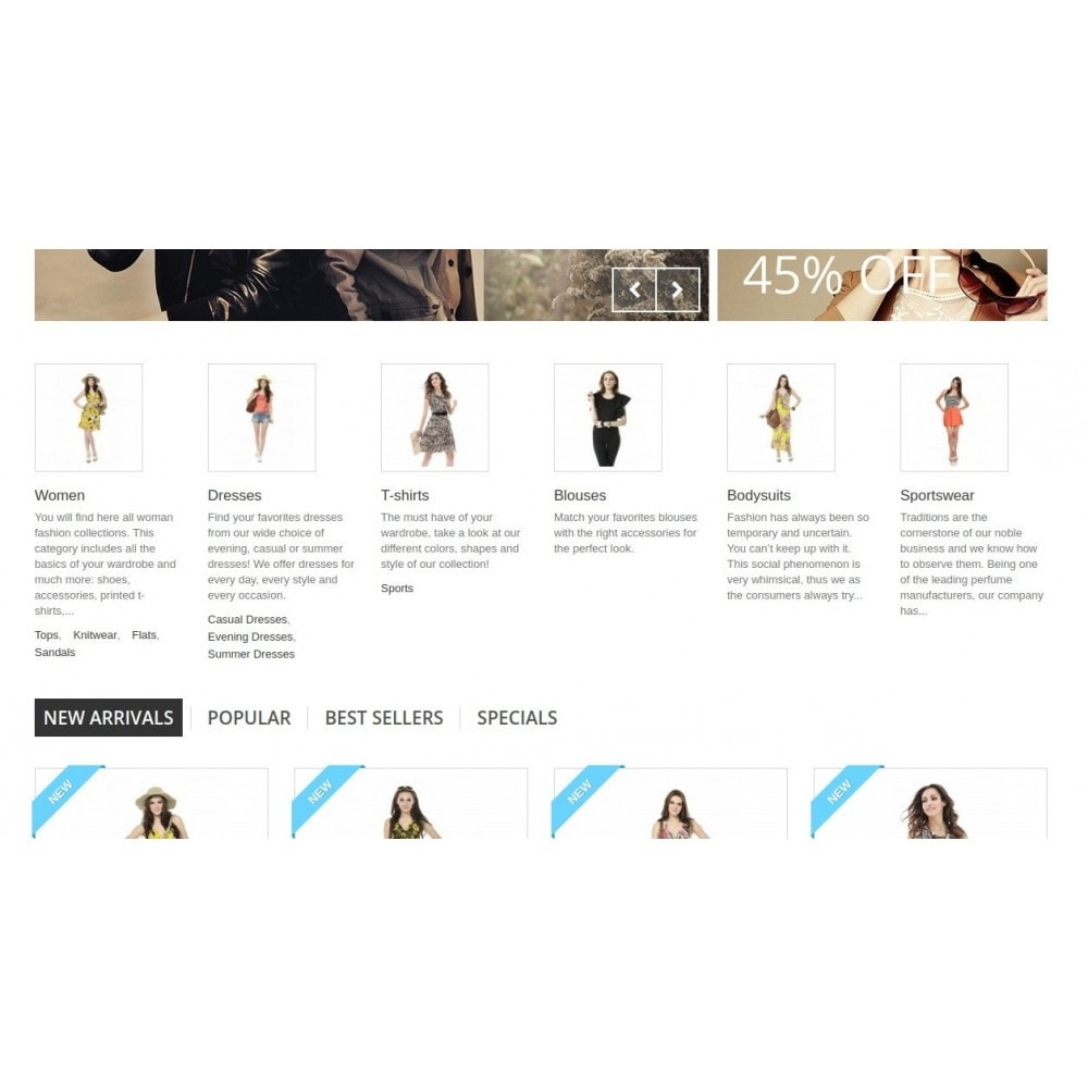 module - Blocchi, Schede & Banner - Homepage Categories - Configurable thumbs, layout, ... - 4