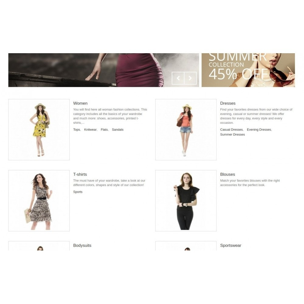 module - Blocchi, Schede & Banner - Homepage Categories - Configurable thumbs, layout, ... - 5