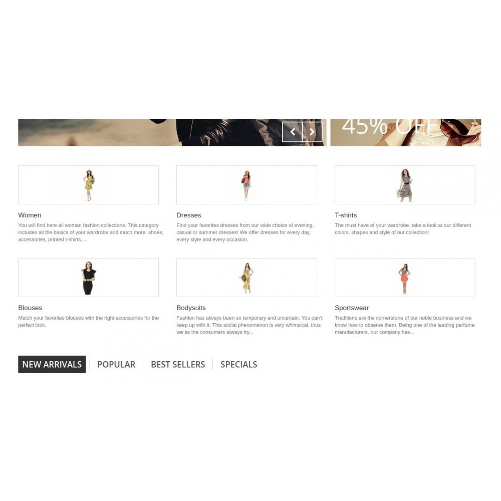 module - Blocchi, Schede & Banner - Homepage Categories - Configurable thumbs, layout, ... - 6