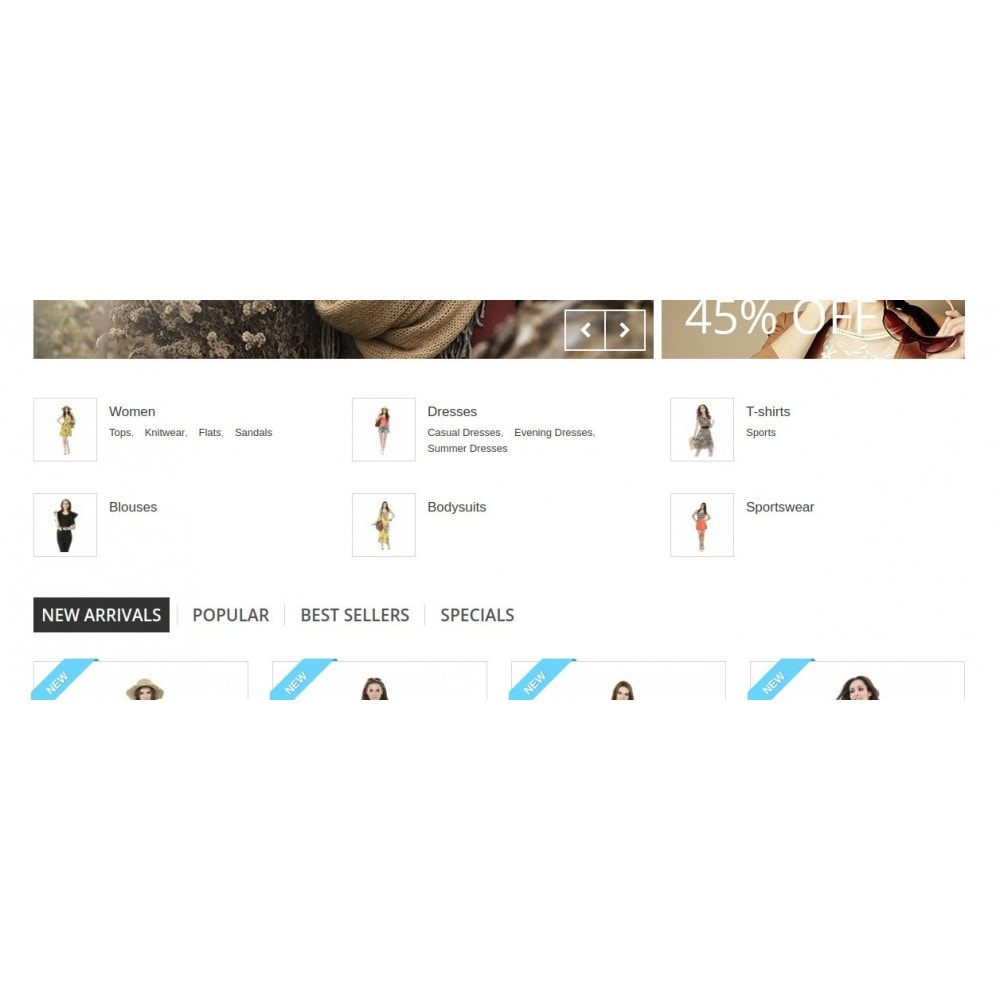 module - Blocchi, Schede & Banner - Homepage Categories - Configurable thumbs, layout, ... - 8