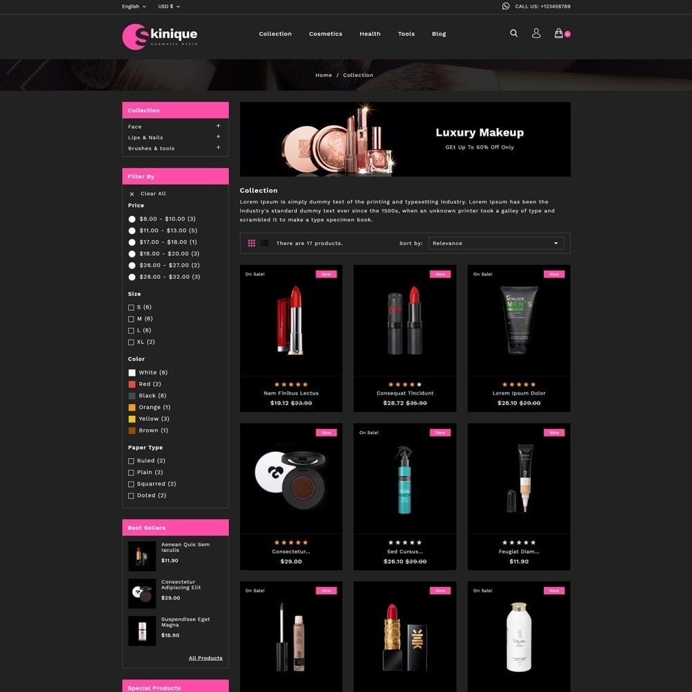 theme - Salute & Bellezza - Skinque Cosmetic store - 3