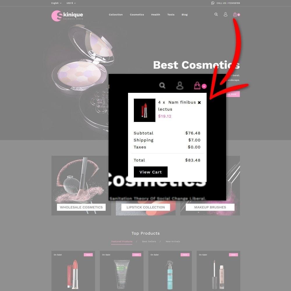 theme - Salute & Bellezza - Skinque Cosmetic store - 7