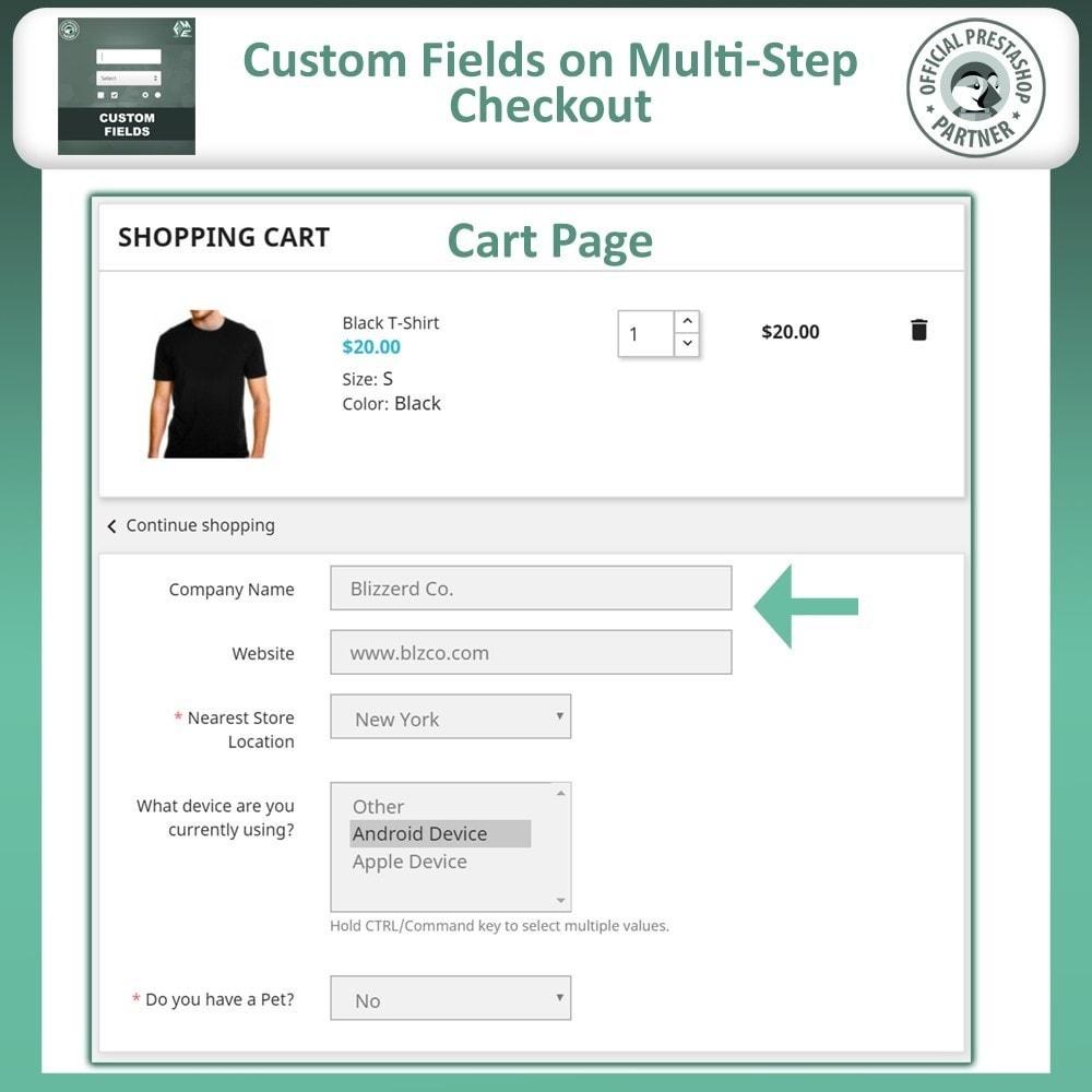 module - Cadastro e Processo de Pedido - Checkout Fields, Add Custom Fields to Checkout & Order - 4