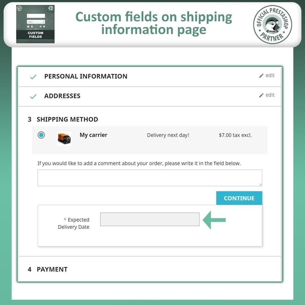 module - Cadastro e Processo de Pedido - Checkout Fields, Add Custom Fields to Checkout & Order - 6