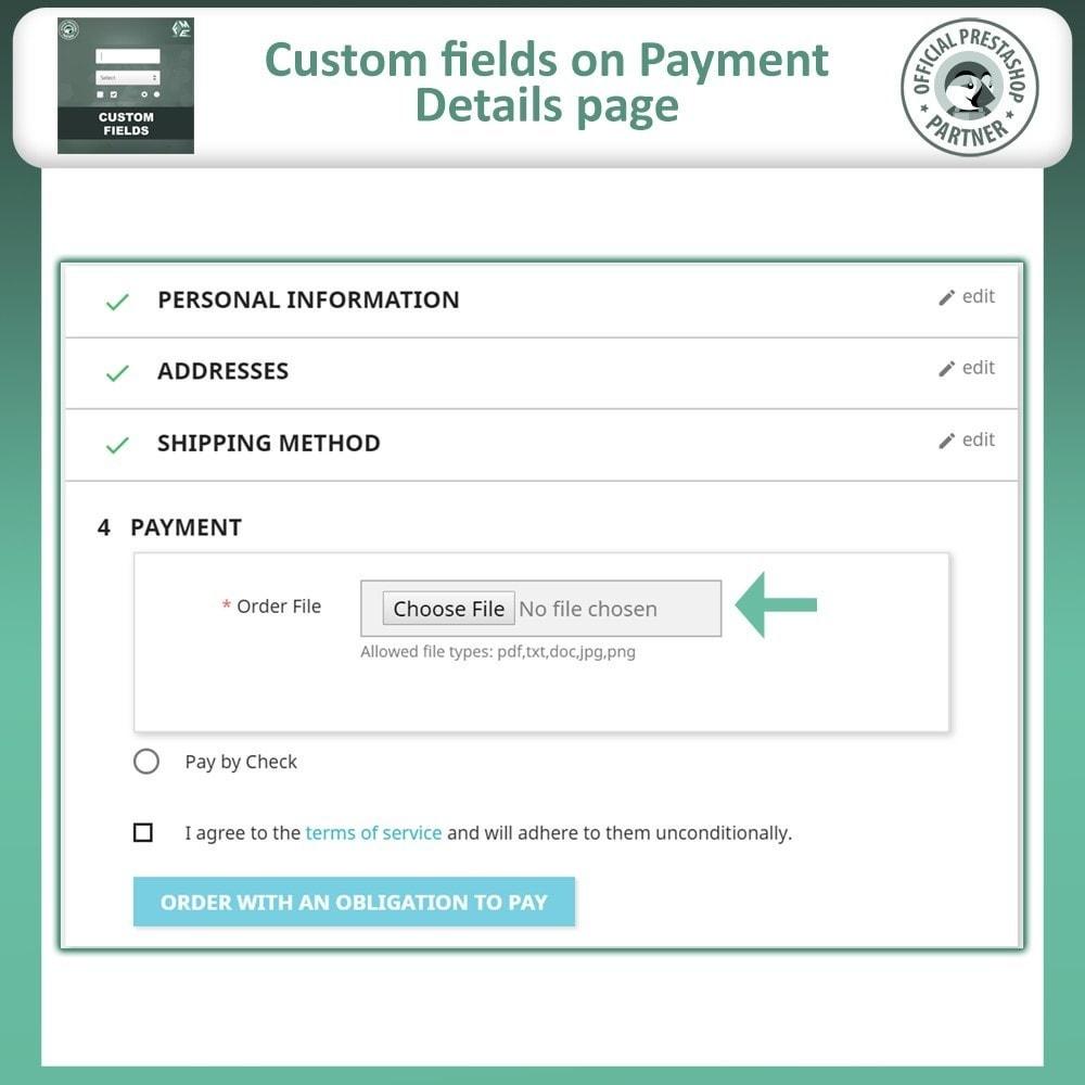 module - Cadastro e Processo de Pedido - Checkout Fields, Add Custom Fields to Checkout & Order - 7