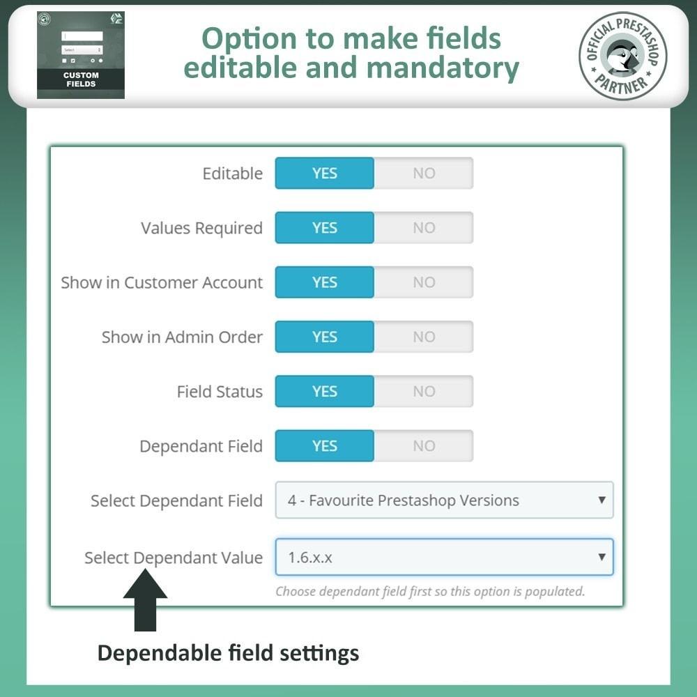 module - Cadastro e Processo de Pedido - Checkout Fields, Add Custom Fields to Checkout & Order - 12
