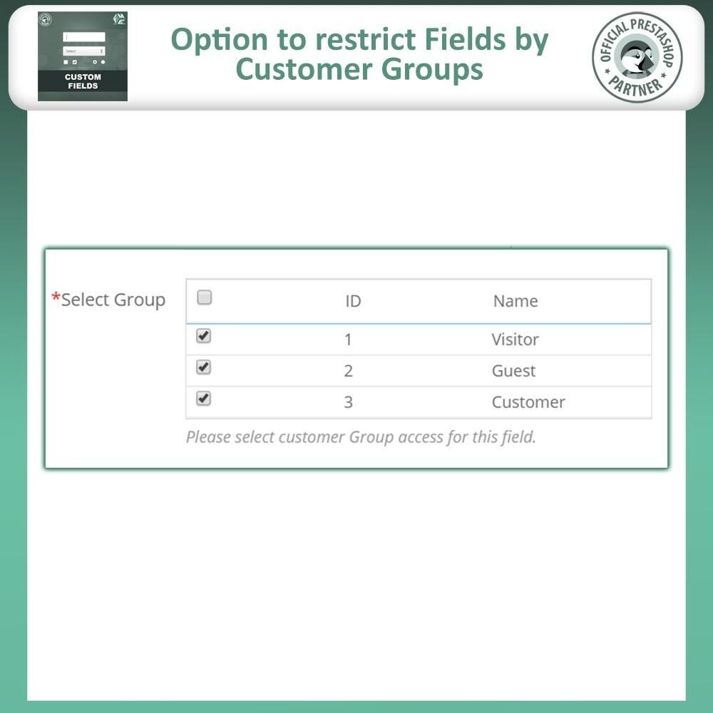 module - Cadastro e Processo de Pedido - Checkout Fields, Add Custom Fields to Checkout & Order - 13