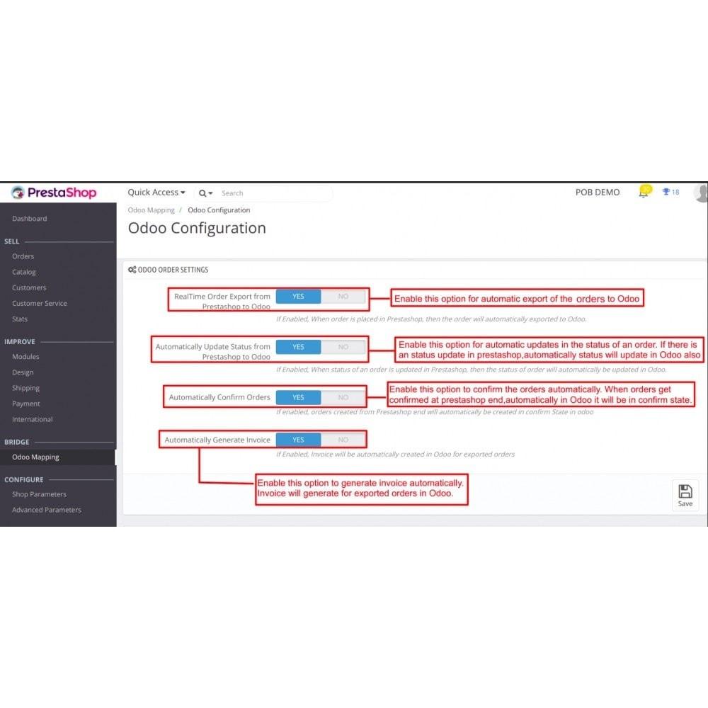module - Conexão com software de terceiros (CRM, ERP...) - Odoo - OpenERP Bridge - 9