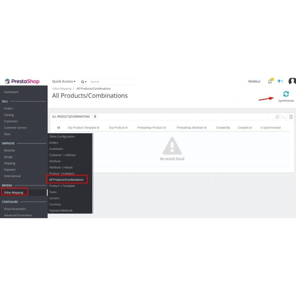 module - Conexão com software de terceiros (CRM, ERP...) - Odoo - OpenERP Bridge - 11