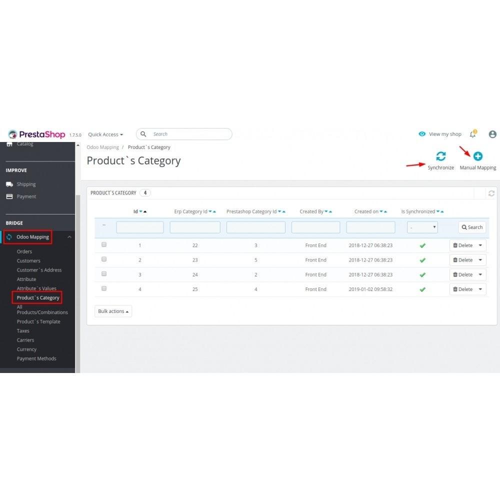 module - Conexão com software de terceiros (CRM, ERP...) - Odoo - OpenERP Bridge - 12