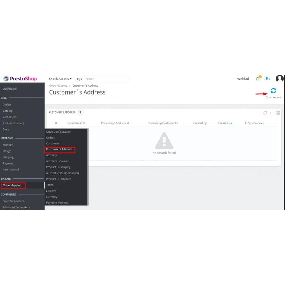 module - Conexão com software de terceiros (CRM, ERP...) - Odoo - OpenERP Bridge - 14