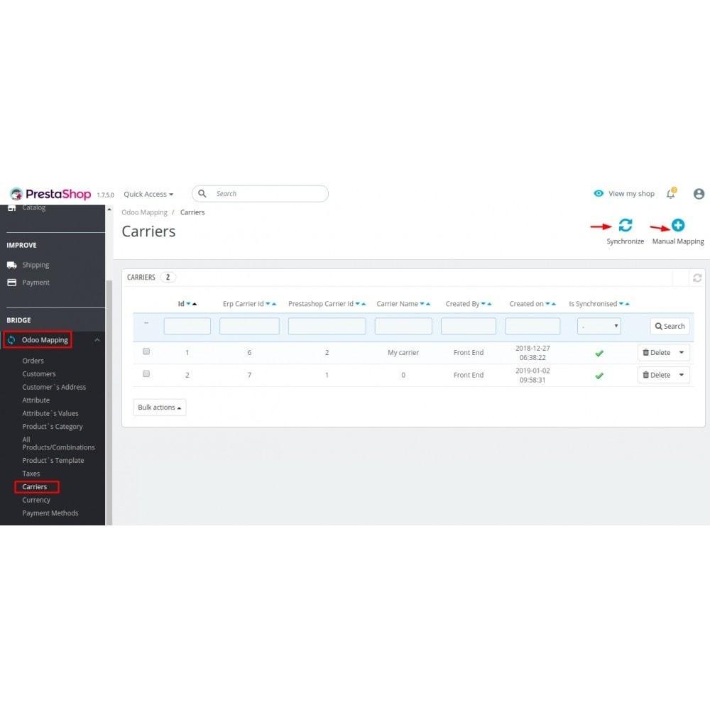 module - Conexão com software de terceiros (CRM, ERP...) - Odoo - OpenERP Bridge - 17