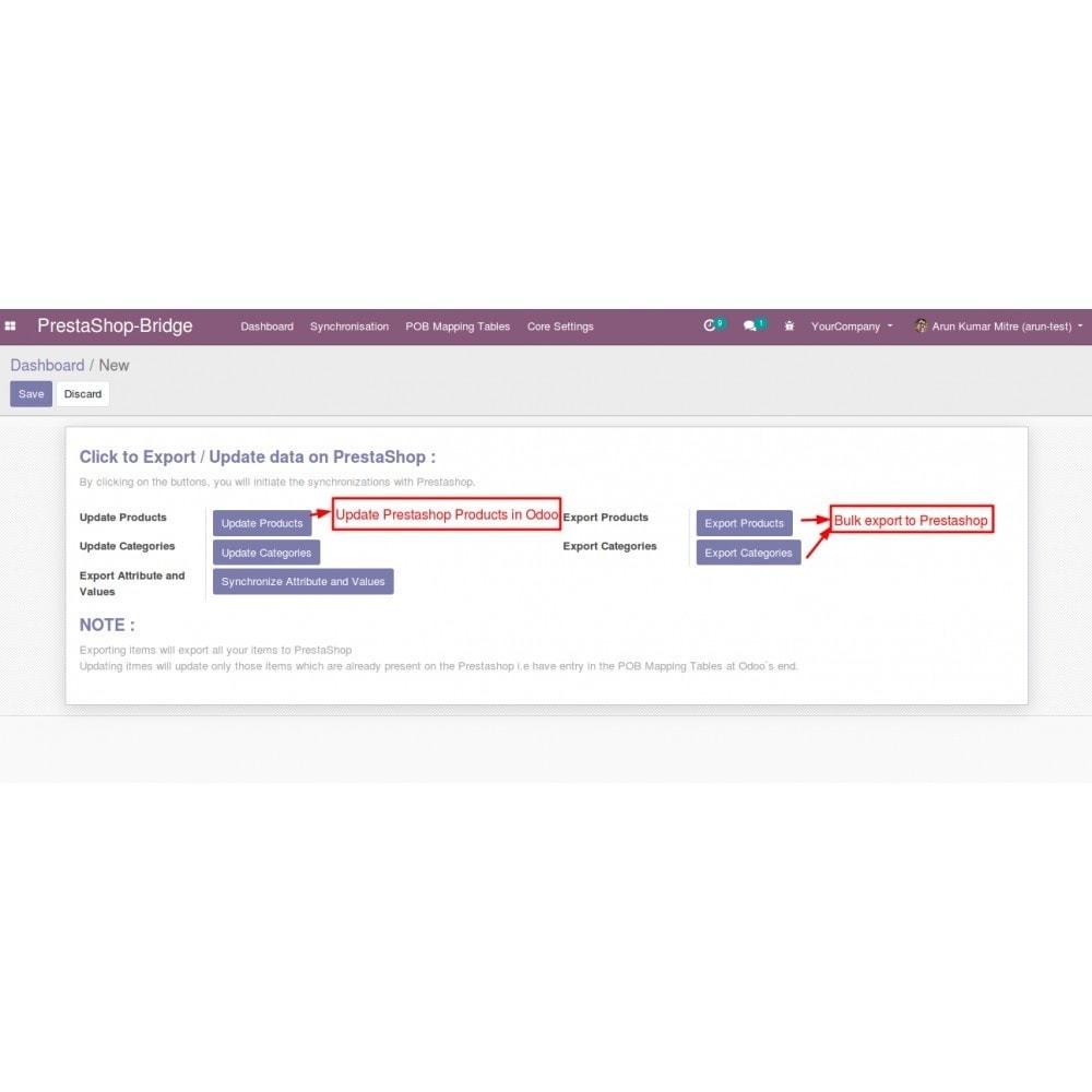 module - Conexão com software de terceiros (CRM, ERP...) - Odoo - OpenERP Bridge - 18